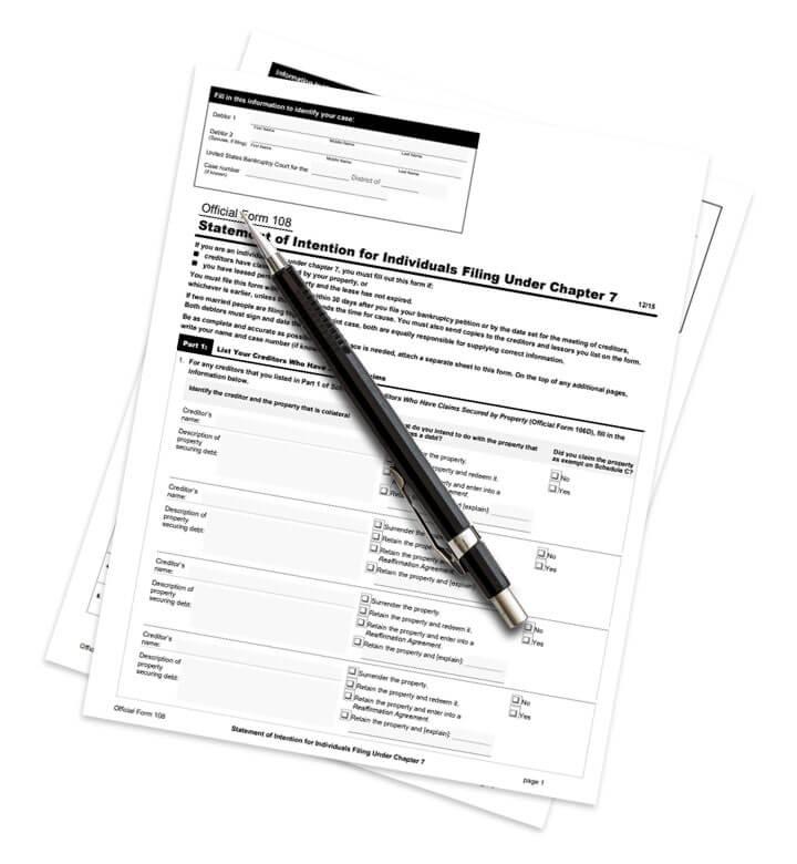 Denver Criminal Defense Attorney, Denver DUI Attorney and Denver Car Accident Attorney chapter 7 form 108 - Chapter 7 Bankruptcy for Individuals